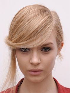pretty, simple side part.