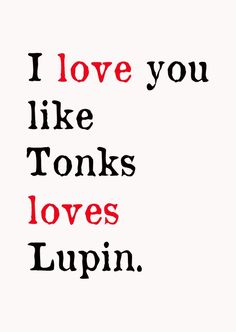 Tonks Loves Lupin Postcard by MarsupialMenagerie on Etsy, $2.50