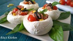Mozzarelle ripiene Light Recipes, Clean Recipes, Healthy Recipes, Finger Food Appetizers, Appetizer Recipes, Recipes From Heaven, Antipasto, Creative Food, Easy Cooking