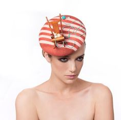 Fascinator hat Miniatures Headpiece Cocktail Hat by MaorZabarHats