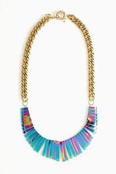 Nasty Gal oil-slick collar necklace