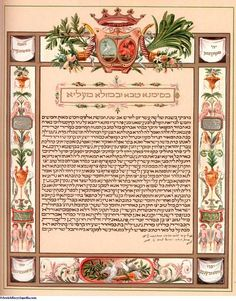 Jewish Marriage Contract: Ketubah., Jewish Wedding Traditions Please visit our website @ http://jewisholidays2015.com