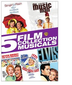 5 Film Musicals Collection on DVD ~ Singin' in the Rain, The Music Man, Yankee Doodle Dandy $7.50