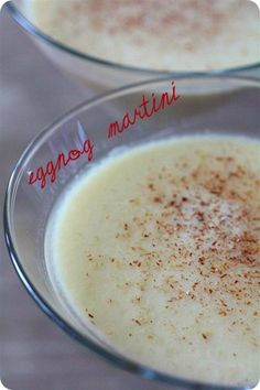 Eggnog Martini...so much better than plain ol' egg nog!  2 1/2 oz. eggnog, 1o z. vanilla vodka, 3/4oz. Amaretto. Combine ingredients in shaker and shake over ice. Strain into chilled martini glass. Dust with freshly grated nutmeg.