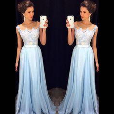 Vestido De Festa Longo Louisvuigon Woman Top Lace Long Prom Dresses Chiffon Evening Dress Party,Elegant Appliques Robe De Soiree Formal Women Prom Gowns