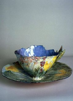Love this teacup, so elegant and yet full of raw energy. Not sure how easy it would be to drink from the lip though!