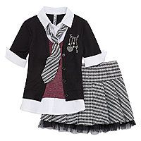 Beautees Top, Tie and Skirt/Shorts Set - Girls 7-16 - Beautees Top, Tie and Skirt/Shorts Set - Girls 7-16