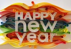 Happy New Year quilled project.