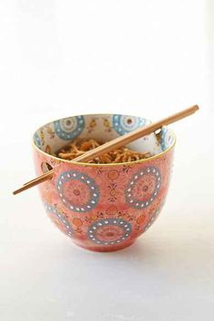 Medallion Noodle Chopsticks + Bowl  CAN GET AT MARSHALLS!!