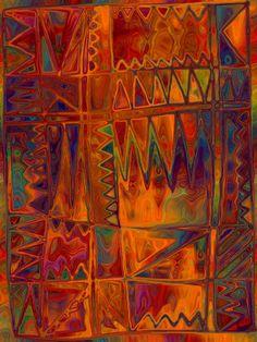 Hand made Panel Fall Geometric Fiber Art Mixed door jacquedesigns