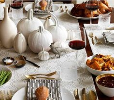 Modern rustic Thanksgiving table - beautiful!