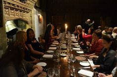 Castle dining. Hever Castle, England.  Beautifully lit.  What an enjoyable setting for an incredible dinner.