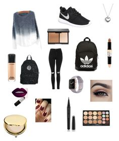 """#127"" by b3ttyw3ldon on Polyvore featuring Topshop, NIKE, adidas Originals, Hype, Pandora, Marc Jacobs, NYX, Morphe, MAC Cosmetics and Estée Lauder"