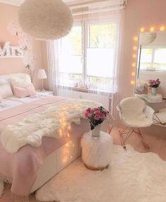 Cute Bedroom Ideas, Cute Room Decor, Girl Bedroom Designs, Room Ideas Bedroom, Awesome Bedrooms, Home Decor Bedroom, Girls Bedroom, Bed Room, Pink Bedrooms