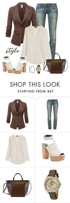 """Untitled #819"" by gallant81 ❤ liked on Polyvore featuring Hilfiger Denim, HUGO, Rebecca Minkoff, Adrienne Landau and Coach"
