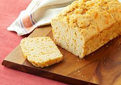 Cheesy Beer Batter Bread recipe - enjoy this cheddar (and beer) -flavoured bread!
