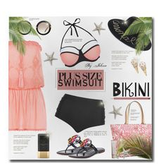 """""""Stylish Curves: Swimwear Edition"""" by jelenalazarevicpo ❤ liked on Polyvore featuring New Look, Cactus, Melissa Odabash, Tory Burch, Eugenia Kim, Kate Spade, Miu Miu, Soleil Toujours, Elizabeth Arden and Laura Mercier"""