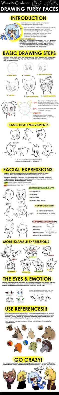 well, it's self explanatory ;w; I was commissioned by Neo-Anton to make a tutorial on how to draw muzzles. But I decided to make it sorta just a big guide on the whole face and expressions and stuf...