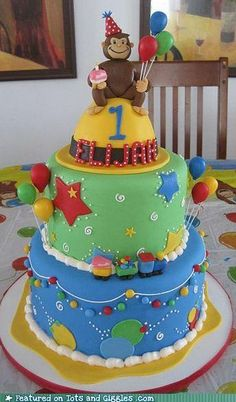 Like the topper. with no monkey. Just the hat. Might be able to use cake batter bowl to bake the hat cake in.