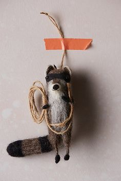 Wiley Raccoon Ornament - anthropologie.com #anthrofave