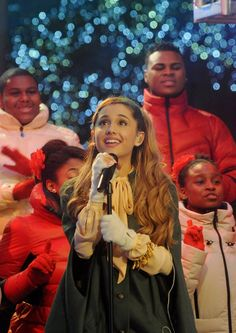 Pin for Later: All the Stars Who Have Celebrated Christmas at Rockefeller Center Ariana Grande, 2013