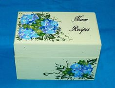 Custon Painted Recipe Box Personalized by EssenceOfTheSouth