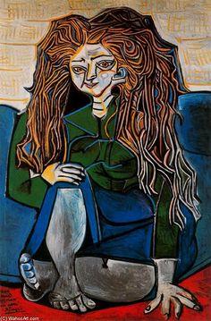 Acheter Tableau 'portrait de `madame` h.p' de Pablo Picasso - Achat d'une reproduction sur toile peinte à la main , Reproduction peinture, copie de tableau, reproduction d'oeuvres d'art sur toile