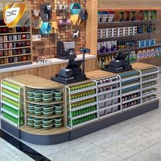 Small Store Design, Retail Store Design, Cashier Counter Design, Showroom Interior Design, Supermarket Design, Retail Shelving, Store Layout, Le Shop, Store Interiors