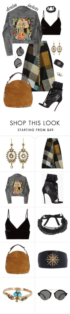 """""""Untitled #532"""" by jeauhall ❤ liked on Polyvore featuring Preen, GALA, Dsquared2, T By Alexander Wang, Topshop, UGG, Turner & Tatler, Illesteva and jeanjackets"""