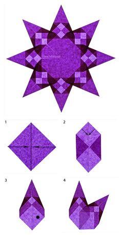Fensterstern violett