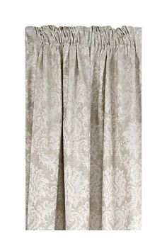 "This is a damask block out curtain with a jacquard scroll detail that appeals to a classic feminine taste and is suitable for all rooms. the block out lining is an effective way to minimise uv light from entering the room. Measures 20x218cm.<div class=""pdpDescContent""><BR /><BR /><b class=""pdpDesc"">Fabric Content:</b><BR />90% Polyester 10% Linen<BR /><BR /><b class=""pdpDesc"">Wash Care:</b><BR>Gentle cycle cold wash</div>"