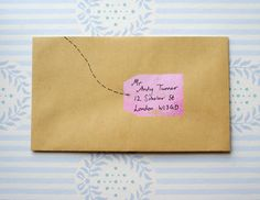 Love this stamp tag addressing -- bliss!: DIY TUTORIAL - Stamps by A Piece of Lisa