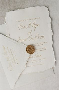 Custom design invitation suites by Ink & Press Co. Handmade paper invitations with calligraphy and vintage stamps for the modern romantic bride. Wedding Invitation Paper, Letterpress Invitations, Handmade Wedding Invitations, Printable Wedding Invitations, Elegant Wedding Invitations, Wedding Stationery, Invitation Cards, Invitation Wording, Wedding Programs