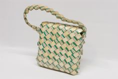 Tramp art cigarette wrapper purse