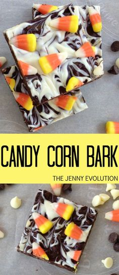 Candy Corn Bark Recipe with Halloween Candy Bonbon Halloween, Halloween Desserts, Halloween Treats, Halloween Fun, Halloween Baking, Halloween Chocolate, Healthy Halloween, Halloween Goodies, Halloween Cupcakes