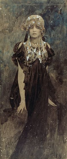 Alphonse Mucha - Bernhardt, Sarah franz.Schauspielerin Paris 22.10.1844