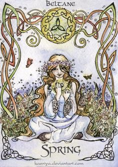 "Beltaine:  ""The Spring Holiday #Beltane,"" by Kaeriya, at deviantART."