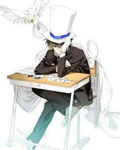 Kaito Kuroba --Magic Kaito-- I love kaito Magic Kaito, Ran And Shinichi, Kudo Shinichi, Conan Comics, Detektif Conan, Detective, Manga Anime, Anime Art, Tsubaki Chou Lonely Planet