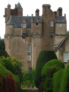 Crathes Castle is a 16th-century castle near Banchory in the Aberdeenshire region of Scotland. This harled castle was built by the Burnetts of Leys and was held in that family for almost 400 years.