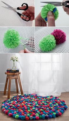 I have a pom-pom maker. It's all about the colour choice.