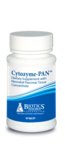 Cytozyme-Pan (pancreas) - For diabetes, ulcers, pancreatitis, dysinsulinism, cachexia, and carbohydrate sensitivity.