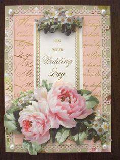 I think this was part of an all occasion card set or maybe the thank you set. Used the lace punch and pearl embellishments as well.