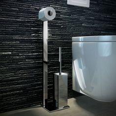 Stijlvolle toiletrolhouder en wc-borstel houder voor een moderne toilet ruimte. Bekijk de toiletaccessoires van Geesa, verkrijgbaar bij uw Baden+ specialist.