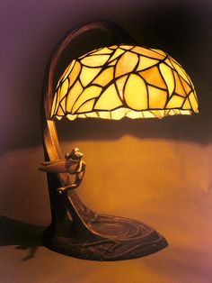 Tinker Bell Stained Glass Lamp Prototype    Designed by Kevin Kidney