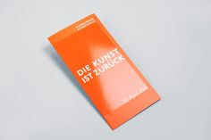 """Heine/Lenz/Zizka developed the new corporate identity for the Hamburger Kunsthalle from scratch – from the overall appearance, to the website, to the signage system. The campaign """"Die Kunst ist zurück"""" (The Art is Back) additionally called attention to th…"""