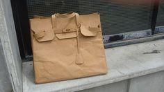 Always affordable, the brown paper Birkin Bag, tee hee ;)