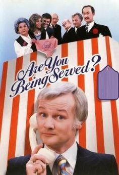 Are You Being Served? Holy I love this show to pieces. British comedy back when you could say anything you wanted on tv without repercussions. Comedy Tv, Comedy Show, British Comedy Series, Radios, Are You Being Served, British Sitcoms, Nostalgia, Netflix, Movies