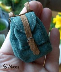 """How to make a Miniature backpack- since the family in our family dollhouse has been declared world travelers and should """"have backpacks everywhere"""""""