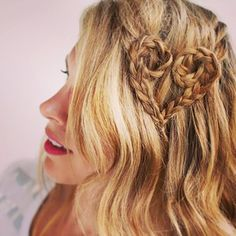 Braid hearts: | 17 Things You Never Even Knew Hair Could Do