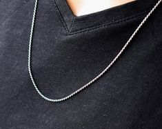 Mens Bracelets Mens Necklaces Mens Jewelry by MayliMen on Etsy Mens Leather Necklace, Mens Chain Necklace, Mens Silver Necklace, Silver Necklaces, Chain Necklaces, Silver Chain For Men, Gold Chains For Men, Silver Man, Necklace Length Chart
